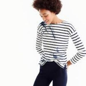 J.Crew striped boatneck whale tee womens shirt…